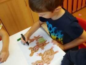 2020 - Lesní tvoření ve třídě Beruška