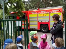 Cvičný požární poplach s hasiči 18
